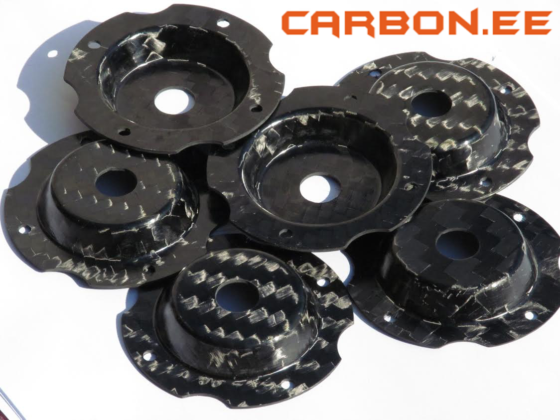 Carbon fiber compression moulded details